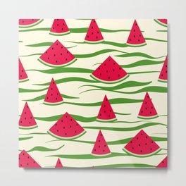Watermelon pattern . 2 Retro . Metal Print