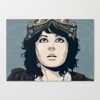 pilot Canvas Prints featuring Pilot by Kimball Gray