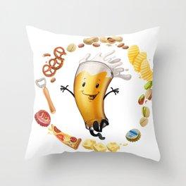 I like beer Throw Pillow
