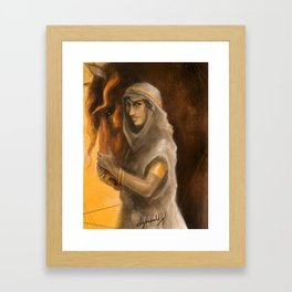 Gold and Clay Framed Art Print