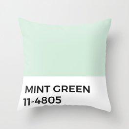 Mint Green Pantone Chip Throw Pillow