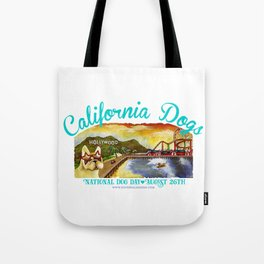 I Love California Dogs National Dog Day Tote Bag