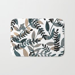 Watercolor branches - neutral Bath Mat