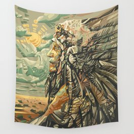 native american portrait Wall Tapestry