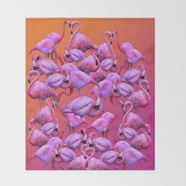 Flamingos Sunrise Throw Blanket