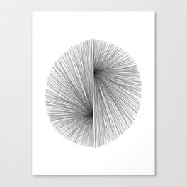 Mid Century Modern Geometric Abstract Radiating Lines Canvas Print
