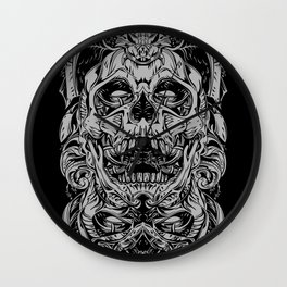 2 FACES SKULL Wall Clock