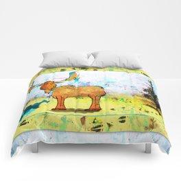 Blue Moose on the Loose ~Ginkelmier Comforters