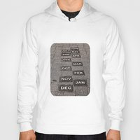 calendar Hoodies featuring Calendar Walk by Ethna Gillespie