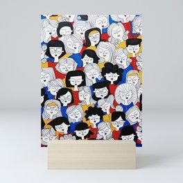 Fashion pattern Mini Art Print