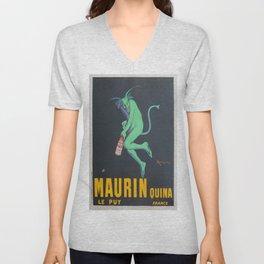 Vintage poster - Maurin Quina Unisex V-Neck