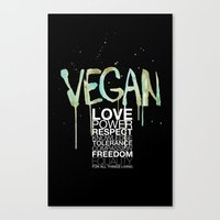 vegan Canvas Prints featuring VEGAN by Elisaveta Stoilova