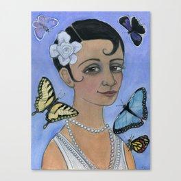Wings of Summer, Four Seasons Portrait Canvas Print