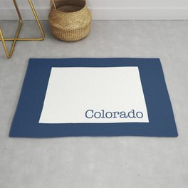 Colorado State in 2020 Navy blue Rug