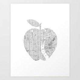 New York City big apple Poster black and white I Heart I Love NYC home decor bedroom wall art Art Print