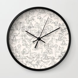 Yoga Manuscript Wall Clock