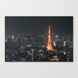 Tokyo tower at night Canvas Print