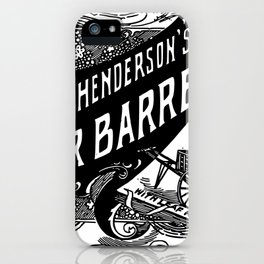 Henderson's Water Barrel & Truck 1894 iPhone Case
