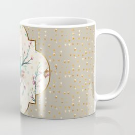 Hummingbird and Butterflies Gold Confetti Coffee Mug