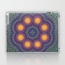 8 Suns Circular Bohemian Geometric Thread Weave Pattern \\ Yellow Green Blue Purple Color Scheme Laptop & iPad Skin