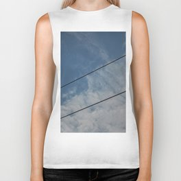 clouds and wire, abstract, no.03 Biker Tank