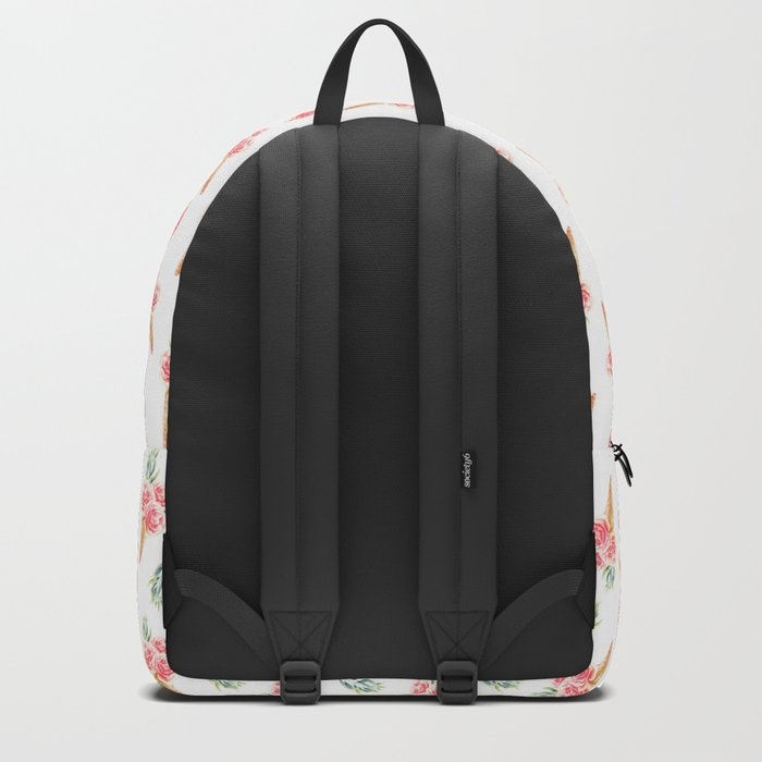 Floral Chill Rose Pattern Backpack