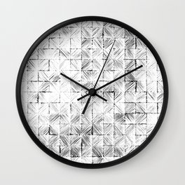 Ink Stitch: White Howlite Wall Clock
