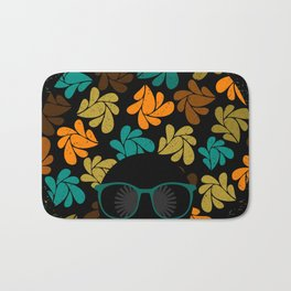 Afro Diva: Fall Colors Brown Gold Teal Bath Mat