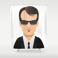 tarantino Shower Curtains featuring Tarantino - Mr. Brown by Capitoni