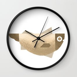 Beige fish Wall Clock