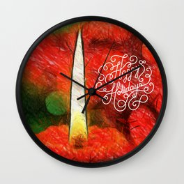 happy holdays Wall Clock