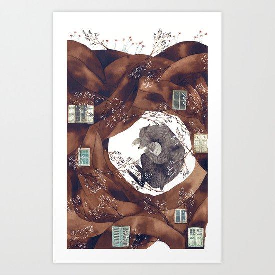 BEAR FOREST Art Print