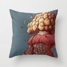 Agaricus Throw Pillow