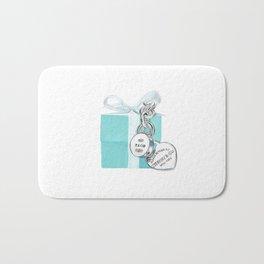 Blue Jewelry Box Bath Mat