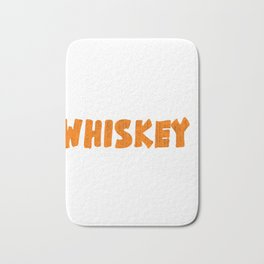 """""""Life Happen Whiskey Helps"""" tee design. Unique simple and fabulous gift to your friends and family!  Bath Mat"""