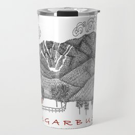Sugarbush Vermont Serious Fun for Skiers- Zentangle Illustration Travel Mug
