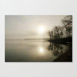 Hazy morning on the bay Canvas Print