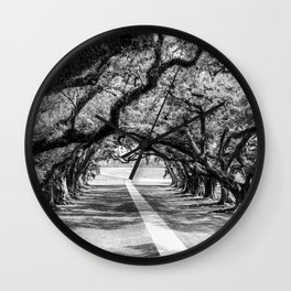 Louisiana Path Through the Oaks Wall Clock