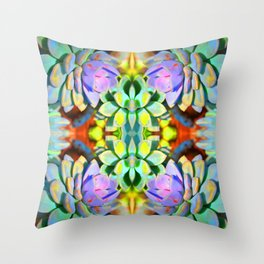 Succulent Color - Botanical Art by Sharon Cummings Throw Pillow