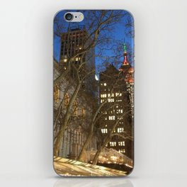 Christmas in NYC iPhone Skin