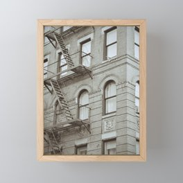 New York fire escape stairs | Travel Photography Framed Mini Art Print
