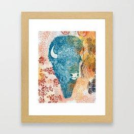 Blue Bison Framed Art Print