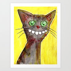 Derp Cat Art Print