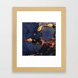 GEMSTONE & GOLD INDIGO Framed Art Print