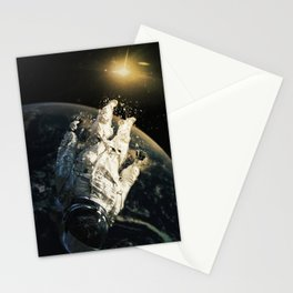 floating in the abyss Stationery Cards