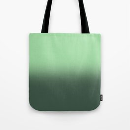 Neo-Mint Green Gradient Ombré Abstract Tote Bag