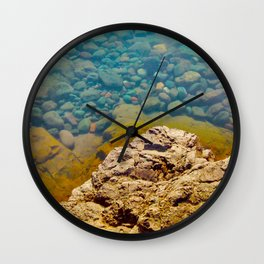 With Calm Comes Clarity Wall Clock