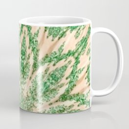 Vintage Doily Green Beige Kaleidoscope Coffee Mug