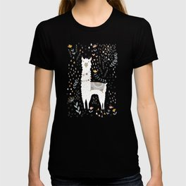 Sweet Llama on Gray T-shirt