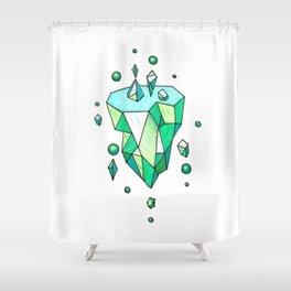 Little Emerald World Shower Curtain